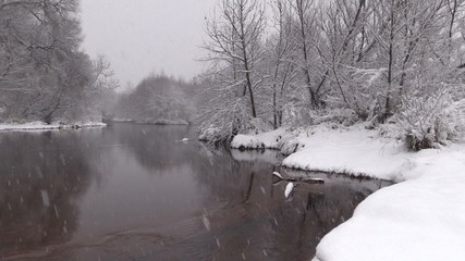 Lazy River in Winter