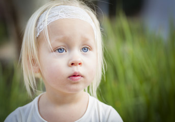 Adorable Little Girl Portrait Outside