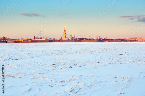 canvas print picture Peter and Paul Fortress in St. Petersburg, Russia