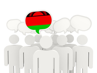 People with flag of malawi