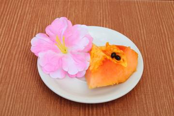Papaya slice 2