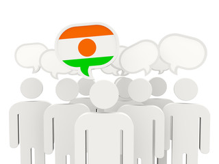 People with flag of niger