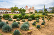 Leinwanddruck Bild - Old Spanish Mission Santa Barbara California Exterior