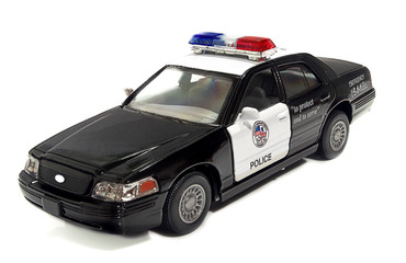 The field officer the car of the USA on a white background.