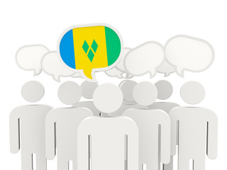 People with flag of saint vincent and grenadines