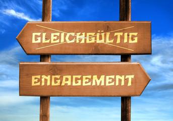Strassenschild 29 - Engagement