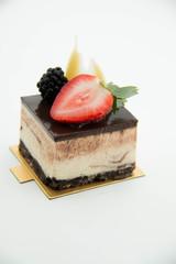 square  cake pieces of chocolate