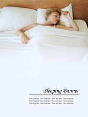 sleeping banner