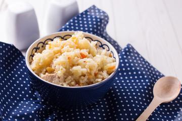 Pilaf in bowl