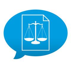Etiqueta tipo app comentario aviso legal