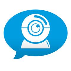 Etiqueta tipo app comentario camara web