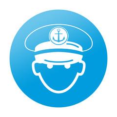 Etiqueta tipo app redonda capitan de barco