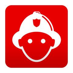 Etiqueta tipo app roja bombero frontal