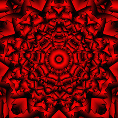 red black kaleidoscope