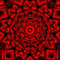 red black kaleidoscope