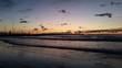 Tramonto al mare in inverno