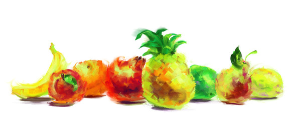 drawing fruit group