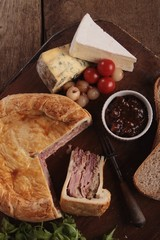 picnic pork pie ploughmans  lunch