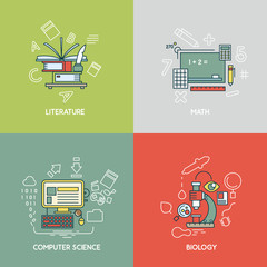 Math, literature, computer science and biology