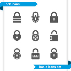 Lock icons set.
