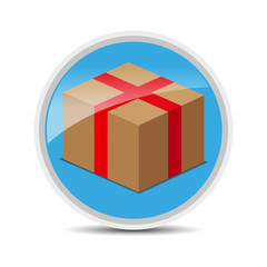 package color glossy icon - vector stock