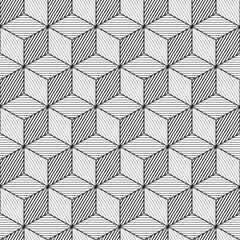 Cube background, line design, seamless pattern