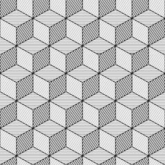 Cube background, line design, seamless pattern