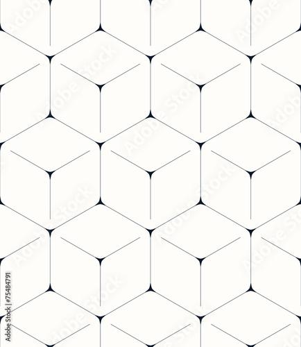 Fototapeta Geometric background, seamless pattern, hexagon