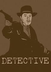 Detective with gun vintage