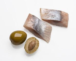 marinated herring with olives
