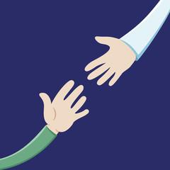 Vector illustration. Giving hand.