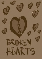 Broken hearts vintage