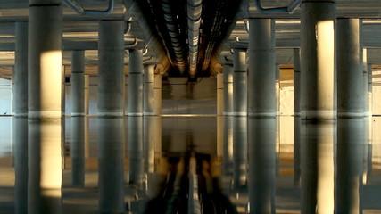 Interior de un puente