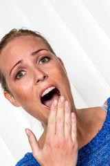 Frau hat Angst