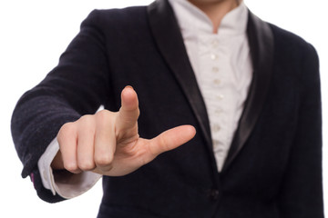 Hands In A Business Suit Giving The Touch On