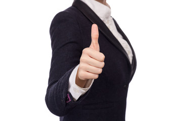 Hands In A Business Suit Showing Thumbs Up
