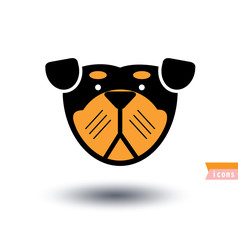 dog icon - vector illustration.
