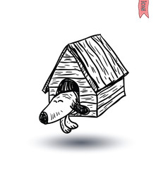 dog house icon - vector illustration.