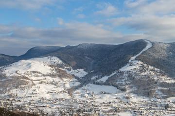 village des Vosges en hiver