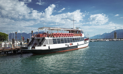 Ferry transport on Garda Lake