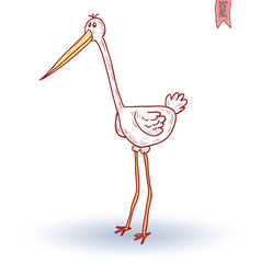 stork, vector illustration