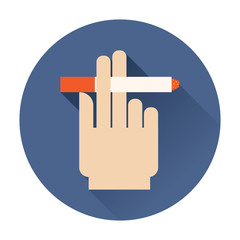 hand holding a cigarette icon
