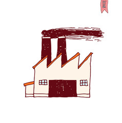 Factory icon, vector illustration
