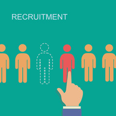 vector recruitment and human resource infographics template with