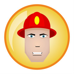 Firefighter icon. Vector illustration