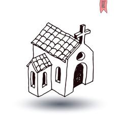 church icon, vector illustration.