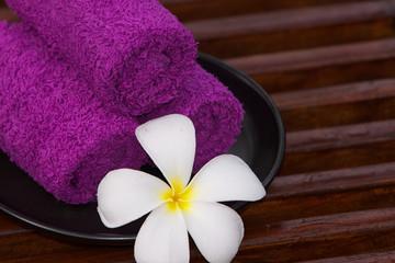 Asciugamani in un centro benessere.