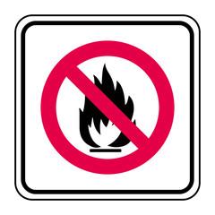Logo feux interdits.
