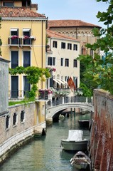 Canals at historical center of Venice, Italy