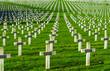 Leinwanddruck Bild - Cemetery world war one in France Vimy La Targette
